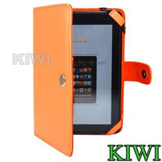 PREMIUM Orange Folio Carry Case Cover for  Kindle Fire Tablet