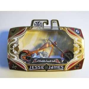 West Coast Harley Chopper Motorcycle Model Diecast (El Diablo hard