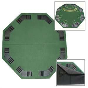 Poker and Blackjack Table Top with Case Toys & Games