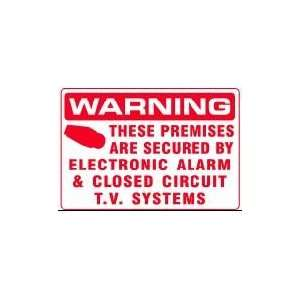 CIRCUIT T.V. SYSTEMS 14x20 Heavy Duty Plastic Sign
