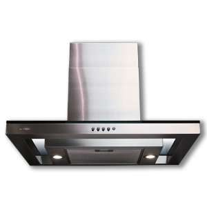 Euro Kitchen 36 Wall S/S Chimney Glass Exhaust Range Hood
