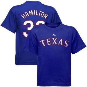 Texas Rangers #32 Josh Hamilton Youth Royal Blue Player T Shirt