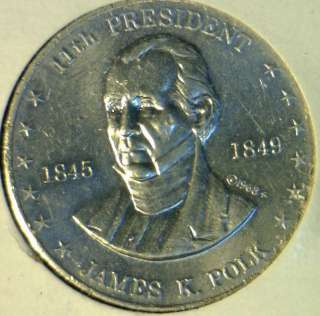 Commemorative Mr. President Shell Game Medal   Token   Coin