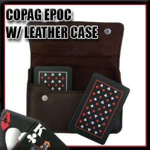 Copag Plastic Cards Leather Case Set EPOC Bridge Jumbo
