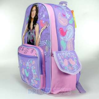 Disney Wizards of Waverly Place Selena Gomez Birds 16 Large Backpackl
