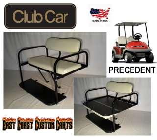 Precedent Golf Cart Rear Flip Down Seat Kit WHITE (FAST