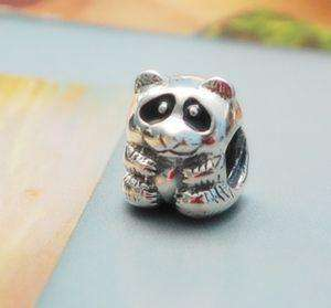 AUTHENTIC PANDORA black ENAMELED PANDA BEAR #790490EN16 BEAD/CHARM NEW