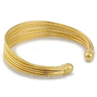 Fashion NEW Multi Strings 18K Gold Filled /Gold Plated Bracelet Cuff