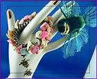 Vtg. Coral Pink Mother Of Pearl Chips Stretch Bracelet