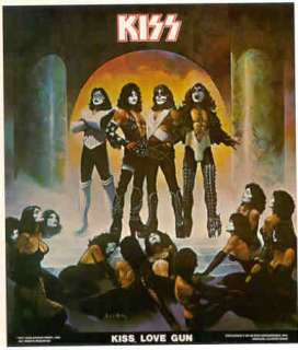 KISS LOVE GUN 1977 Poster Put On Sealed in Package