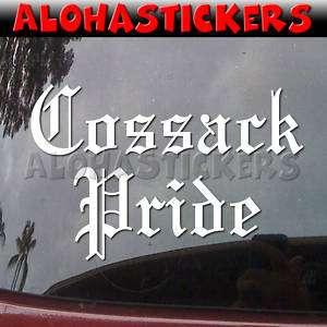 COSSACK PRIDE Vinyl Decal Car Truck Russia Sticker PR4