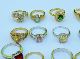 17 estate Rings Vintage Costume Fashion Jewelry Huge NICE Lot