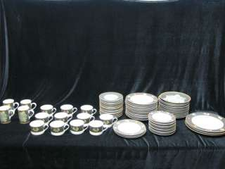 Sasaki Ravenna Charcoal China Retired 75 Piece Set