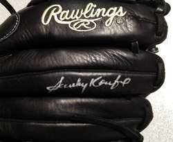 SANDY KOUFAX SIGNED AUTOGRAPHED NEW LEFTY RAWLINGS GOLD GLOVE PSA/DNA