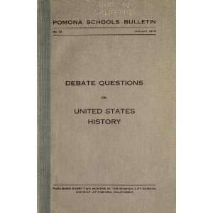 Debate Questions On U.S. History G. Vernon (Guy Vernon