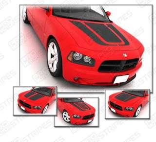 Dodge Charger 2006 2010 Hood Graphics Stripe Decals s2