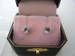 Auth Juicy Couture Princess Heart Crown Stud Earrings Studs $42