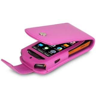 SAMSUNG S5620 MONTE LEATHER FLIP CASE HOT PINK