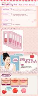 ETUDE HOUSE] Fresh Cherry Tint  Red & Pink Sample 5pcs Fast Shipping