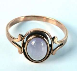 DAINTY ANTIQUE 10k ROSE GOLD VICTORIAN LIGHT PURPLE AMETHYST CABOCHON