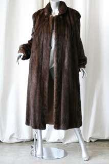 SAGA MINK+BONWIT TELLER *Vintage* Brown MINK FUR Jacket Luxe Long Maxi