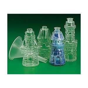 Plastic Castle Sand Art Bottles (Pack of 12)   Tiny