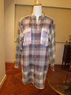ETOILE ISABEL MARANT S/S2012 RUNWAY MEG PLAID COTTON BLEND SHIRT DRESS