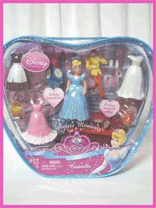 New DISNEY PRINCESS CINDERELLA GLITTER DOLL SET