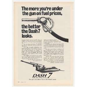 1975 de Havilland Dash 7 Airplane Uses Less Fuel Print Ad