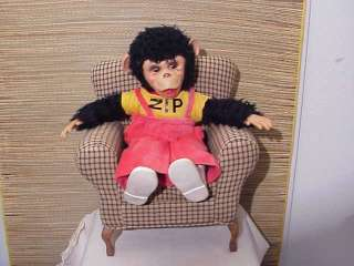 Original 16 Zip Zippy Rushton Rubber Face Monkey Plush Toy