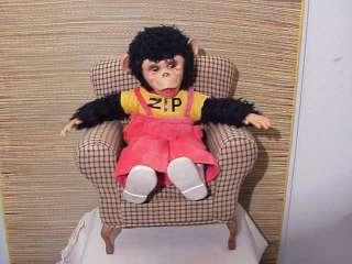 Original 16 Zip Zippy Rushton Rubber Face Monkey Plush Toy