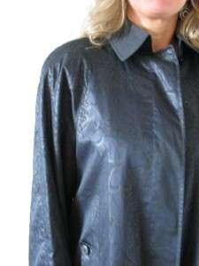 AQUASCUTUM LONDON LADIES BLUE FLORAL RAIN JACKET COAT~8
