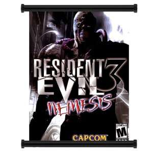 Resident Evil 3 Nemesis Game Fabric Wall Scroll Poster (16