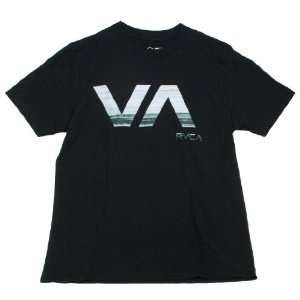 RVCA VA Lined Logo Mens Shirt (Small, Black) Everything