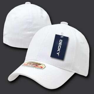 WHITE FIT ALL FLEX BASEBALL CAP HAT CAPS HATS LARGE/XL