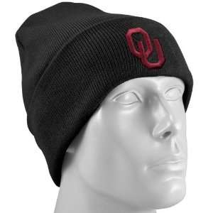 Top of the World Oklahoma Sooners Black Simple Cuffed Knit