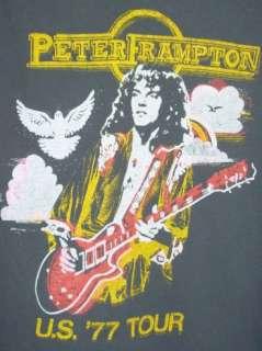Mens Vintage Rock Peter Frampton 1977 U.S. Tour T shirt