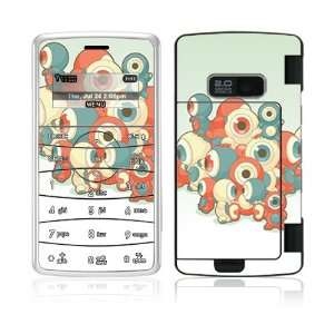 Round Eyes Decorative Skin Cover Decal Sticker for LG enV2