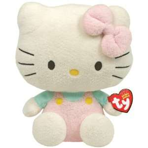 Ty Beanie Baby Hello Kitty   Pink Overalls Toys & Games