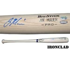 Joe Mauer Autographed Rawlings Big Stick Bat w/ Name Engraved w/ #7