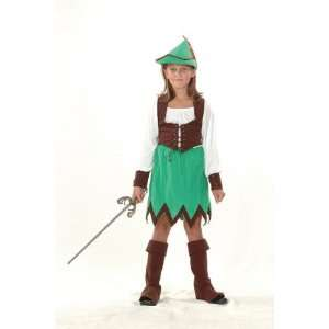 Robin Hood Girls 5pc Fancy Dress Costume   S 122cms Toys
