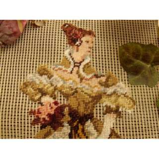PREWORKED Needlepoint Canvas PETIT POINT~Victorian Lady