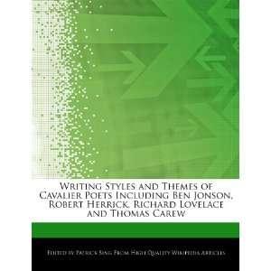 Richard Lovelace and Thomas Carew (9781276152334): Patrick Sing: Books