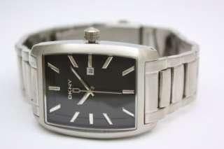 New DKNY Men Black Dial Steel Date Watch NY1457