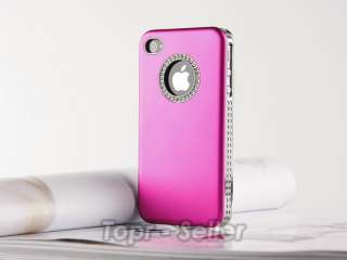 Rose Red Luxury Bling Diamond Crystal Case Cover For iPhone 4S 4G 4