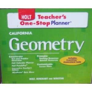 Teachers One Stop Planner (California Geometry, Includes