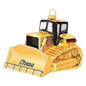 Bull Dozer Personalized Ornament: Home & Kitchen
