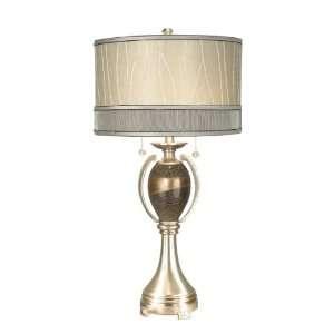 Dale Tiffany PG10004 Camberidge Table Lamp, Satin Nickel
