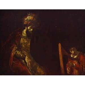 Rembrandt   Saul and David   Hand Painted   Wall Art Decor