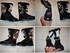 ED HARDY RAINIE RAIN BOOTS GEISHA KISS OF DEATH SHOE 10